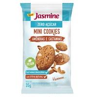 Mini cookies zero açúcar amêndoas e castanhas Jasmine 35g