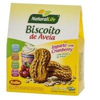 Biscoito de aveia sabor iogurte com cranberry Natural Life 69g