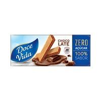 Biscoito wafer chocolate zero açucar Doce Vida 115g