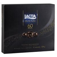 Trufas Dark de chocolate 60% recheadas Lacta Intense 138g
