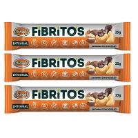 Fibritos integral sabor castanhas com chocolate Biosoft 75g
