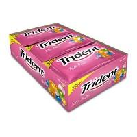 Trident de tutti frutti caixa com 21 unidades