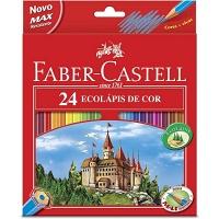 Lápis de cor Ecolápis linha vermelha Faber Castell 24 cores