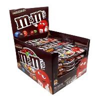 Confeito chocolate ao leite M&Ms caixa com 18 unidades de 45g