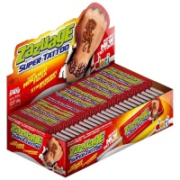 Pirulito mastigável sabor morango Zazuage Super Tatttoo Dori  (50 unidades)