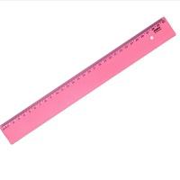 Régua New Line 30 cm vermelha Waleu