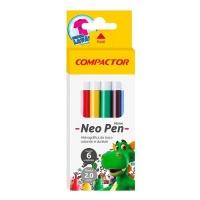 Caneta hidrográfica  Neo Pen Mirim Compactor 6 cores