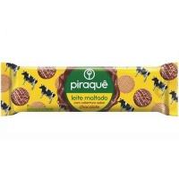 Biscoito leite maltado cobertura de chocolate Piraquê 80g