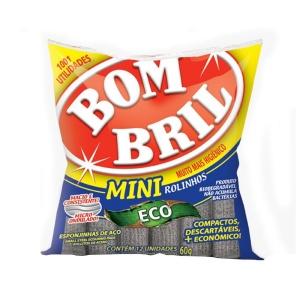 Esponjinhas de aço Bombril Mini rolinhos 60g