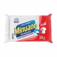 Sabão em barra glicerinado tira manchas com bicarbonato de sódio Minuano 200g