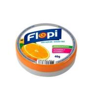 Bala de laranja sem adição de açucar Flopi 40g.