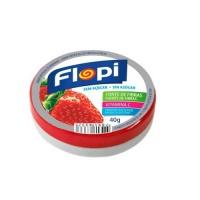 Bala de morango sem adição de açucar Flopi 40g.