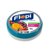 Bala de frutas sem adição de açucar Flopi 40g.