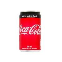 Coca cola sem açúcar lata 220ml