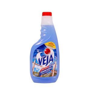 Limpa vidros vidrex tradicional com alcool refil Veja 500ml.
