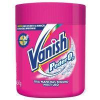 Vanish alvejante em pó  rosa poder O2 450g.