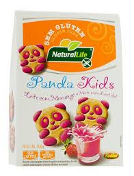 Biscoito Panda Kids leite morango sem glúten sem lactose Natural Life 100g
