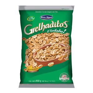 Amendoim sem pele salgadinho grelhaditos Santa Helena 1kg