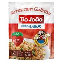 Arroz parboilizado galinha com vegetais Tio João Cozinha e Sabor 175g