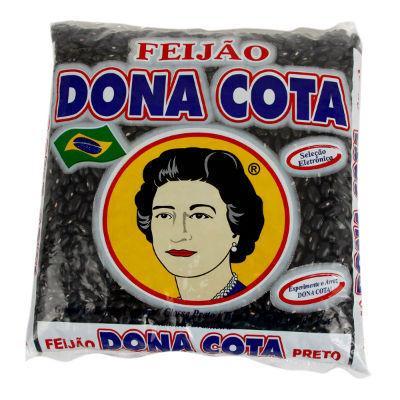 Feijão preto Dona Cota 1kg.