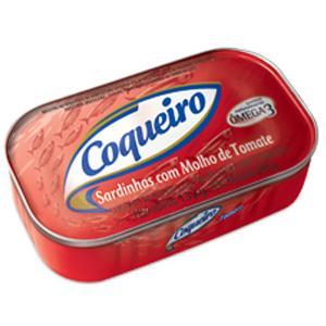 Sardinha  ao molho de tomate Coqueiro 125g